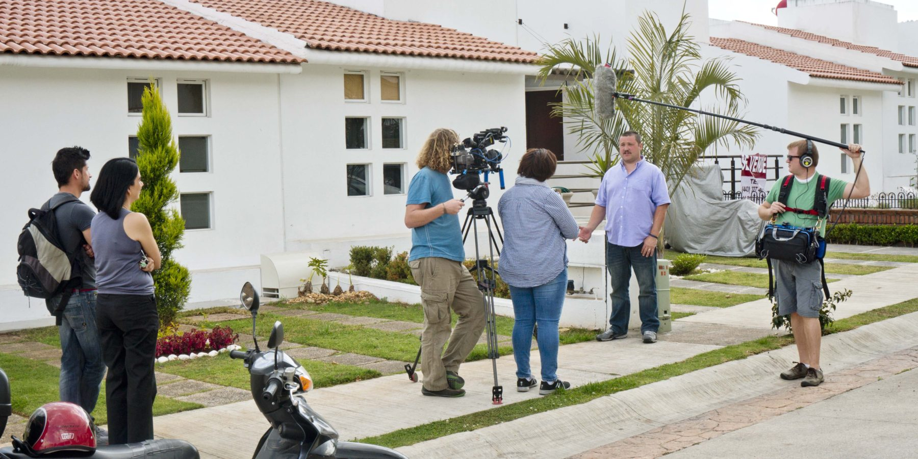 48 photos of our family filming with house hunters international