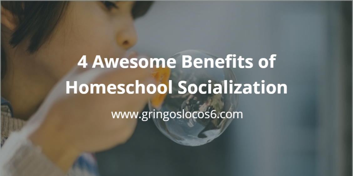 4 Awesome Benefits of Homeschool Socialization: Positive socialization may be easier in a homeschooling environment. Here are 4 awesome benefits of homeschool socialization.